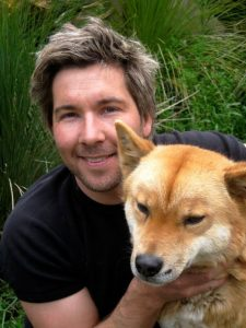 Chris with dingo