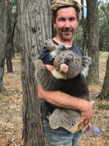 Chris with koala