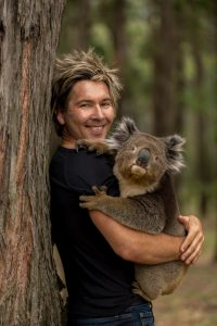 Chris with koala holding